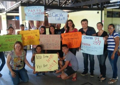 Mobilização pela Greve Geral da Educação na Escola Caic Dom Antônio Campelo de Aragão - Cariri