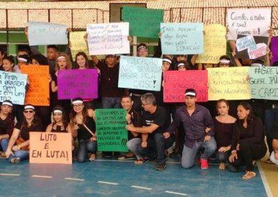 Mobilização pela Greve Geral da Educação na Escola de Ensino Médio Menezes Pimentel - Pacoti