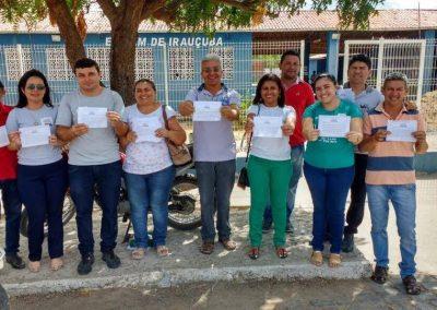 Professores de Irauçuba na mobilização da Greve Geral da Educação