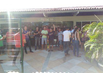 Manifestação de professores pela Greve Geral da Educação em frente à CREDE 16 - Iguatu
