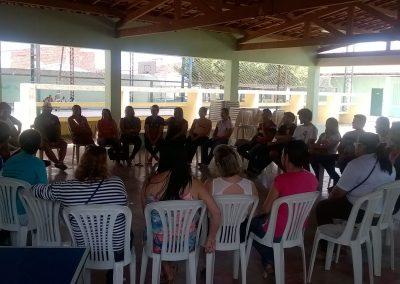 Reunião do Zonal Aracati, Fortim, Itaiçaba e Jaguaruana. Os professores discutiram os encaminhamentos para os próximos atos.