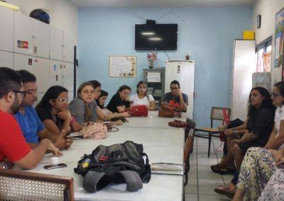 """Trabalhadores da educação participam da atividade """"Mutirão do ENEM"""" no colégio Jenny Gomes para garantir que os estudantes da escola pública estejam na Universidade Pública. 100% dos alunos do 3° ano foram inscritos no exame."""