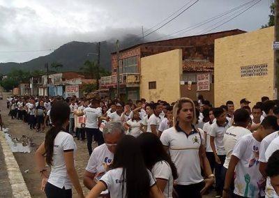 Mobilização de professores(as) e estudantes das Escolas Eunice Weaver, CAIC, Luiz Girão, Anchieta ( Maranguape) e Rui Barbosa (Maracanaú).