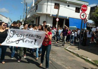 Mobilização dos professores das cidades de Ubajara, Ibiapina e Tianguá com o apoio dos alunos das Escolas Grijalva Costa e Flávio Ribeiro Lima