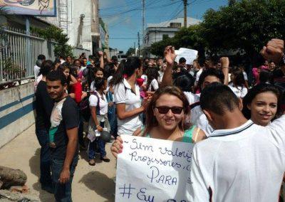 30Mobilização dos professores das cidades de Ubajara, Ibiapina e Tianguá com o apoio dos alunos das Escolas Grijalva Costa e Flávio Ribeiro Lima