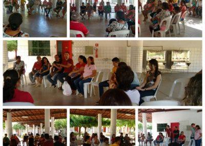 Mobilização de Greve no Liceu Jacob Nobre de Oliveira, com a presença de pais e professores - Banabuiú