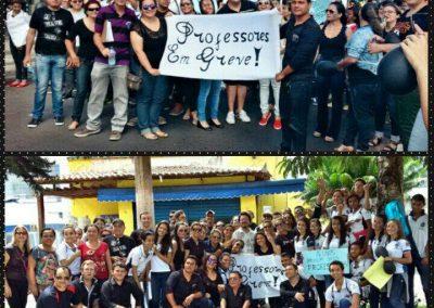 Professores de Tauá na mobilização da Greve Geral da Educação