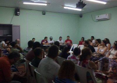 Direção do Sindicato APEOC na mobilização dos professores de Limoeiro do Norte.