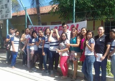 Mobilização dos professores da Escola de Ensino Médio de Amontada.