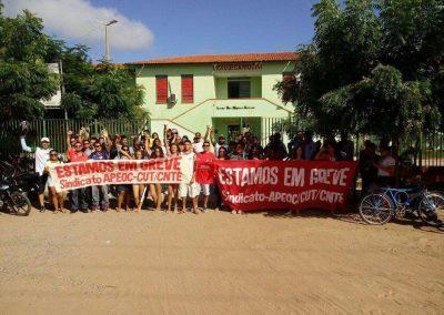 Mobilização com professores e alunos no Liceu de Camocim