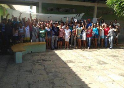 A EEM Francisco Nonato Freire, município de Alto Santo, aderiu à greve por unanimidade. Professores realizaram reunião com pais e estudantes e tiveram todo apoio da comunidade escolar.