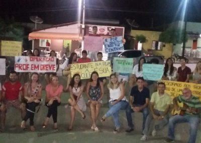 Professores em mobilização pela Greve Geral da Educação - Forquilha
