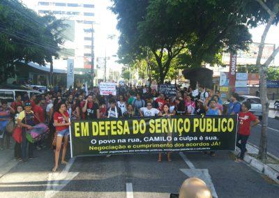 Sindicato APEOC participa do Ato Unificado dos servidores públicos estaduais em defesa do reajuste geral e contra o retrocesso do Governo Temer nas políticas públicas de Educação.