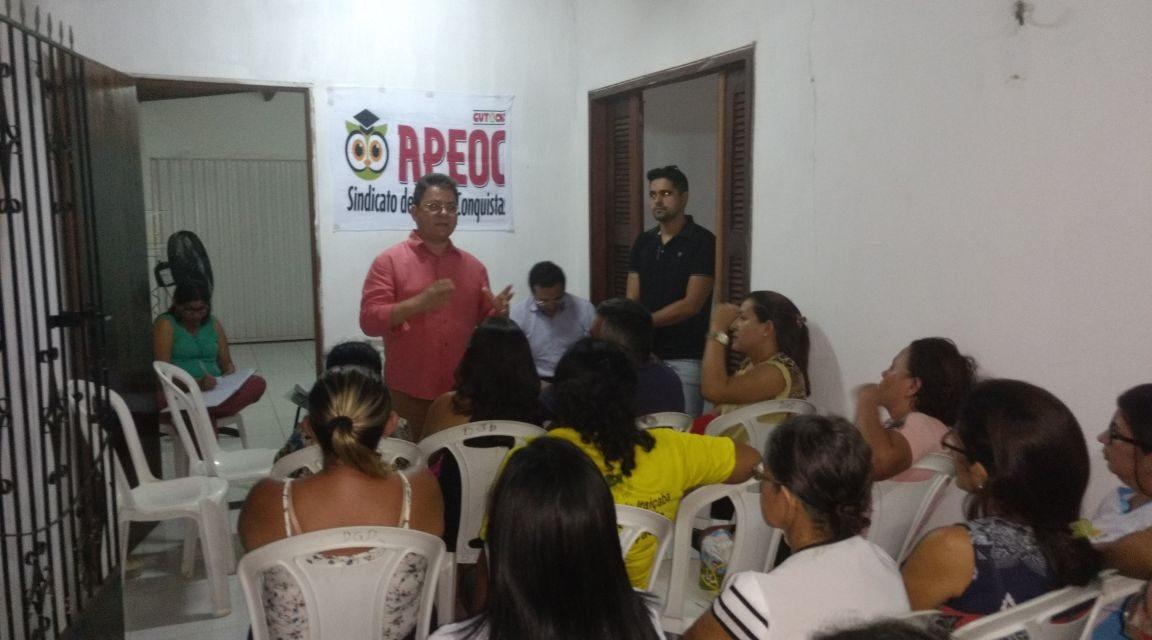 Itaiçaba: Sindicato APEOC promove assembleia sobre precatórios do Fundef