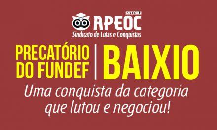 Baixio: Sindicato APEOC conquista 60% dos precatórios do FUNDEF para os profissionais do Magistério