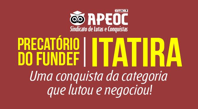 Itatira: Sindicato APEOC comemora pagamento dos precatórios do FUNDEF