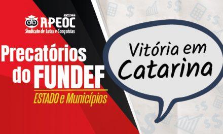 CATARINA: Sindicato APEOC garante quase 5 milhões de reais do precatório do FUNDEF para professores