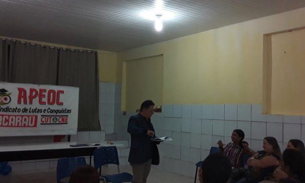 ACARAÚ: APEOC REÚNE PROFESSORES PARA DEBATER PRECATÓRIOS DO FUNDEF