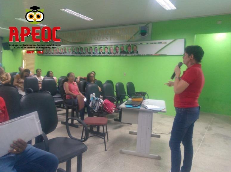 SANTANA DO CARIRI: APEOC DISCUTE CAMPANHA SALARIAL E PRECATÓRIOS DO FUNDEF